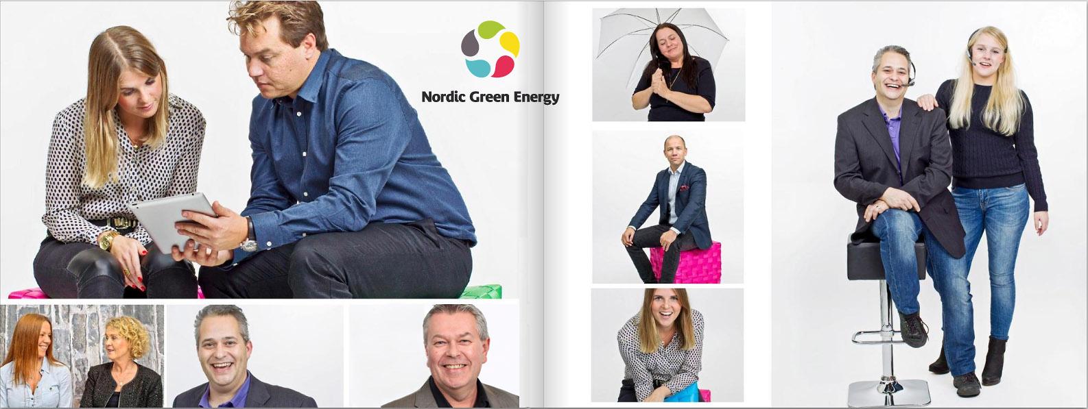 Henrik Sellin fotograf i Stockholm tar bilder åt Nordic Green Energy.